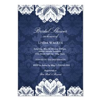 Blue Exotic flower | Bridal Shower Invitation