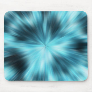 blue explosion mouse pad