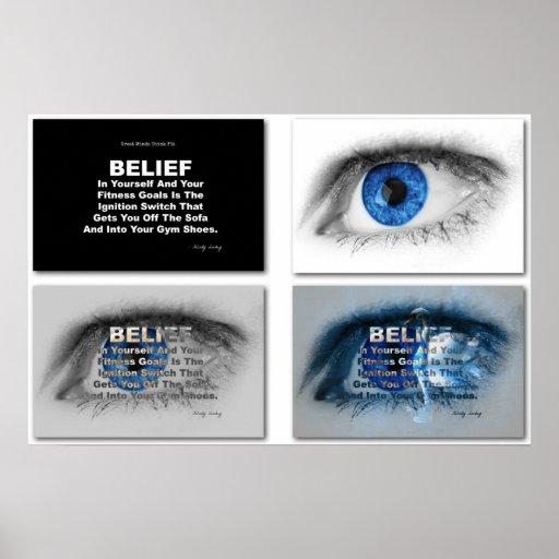 Blue EYE Believe in Fitness! Print