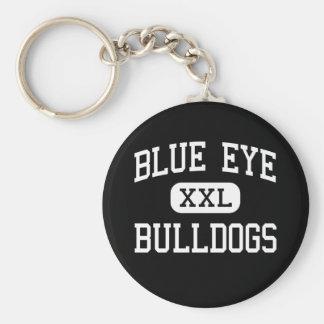 Blue Eye - Bulldogs - Senior - Blue Eye Missouri Basic Round Button Keychain