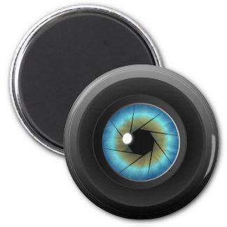 Blue Eye Camera Lens Custom Fridge Magnet