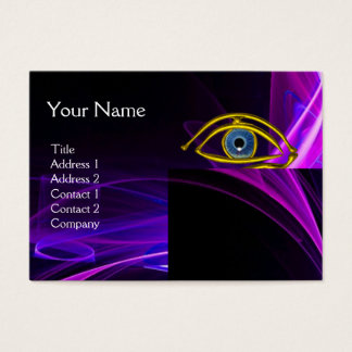 BLUE EYE Doctor,Ophthalmic,Oculist Symbol,Purple Business Card