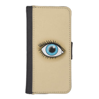 Blue Eye icon iPhone 5 Wallet Cases