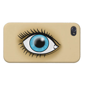 Blue Eye icon iPhone 4 Covers