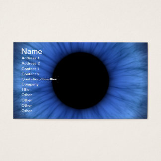blue eye is cute business card