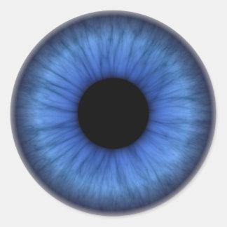 blue eye is cute round sticker