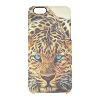 Blue Eye Leopard Clear iPhone 6/6S Case