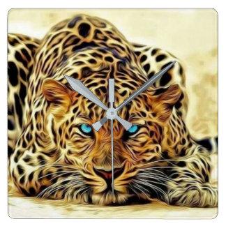 Blue Eye Leopard Clock