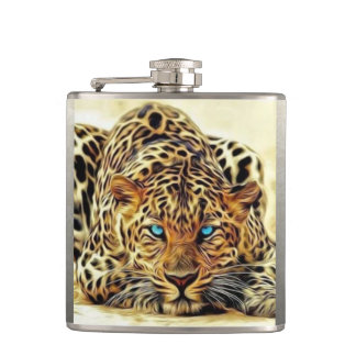 Blue Eye Leopard Hip Flask