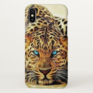Blue Eye Leopard iPhone X Case