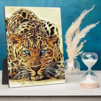 Blue Eye Leopard Plaque