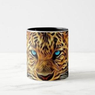 Blue Eye Leopard Two-Tone Coffee Mug