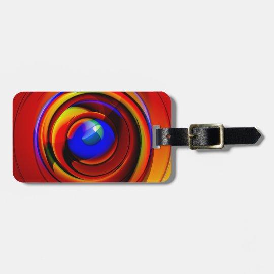 blue eye - luggage tag