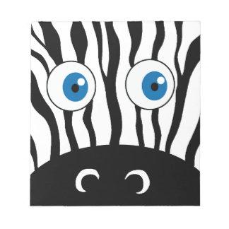 Blue eye zebra notepad