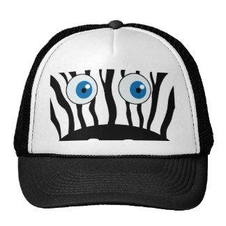 Blue eye zebra trucker hat