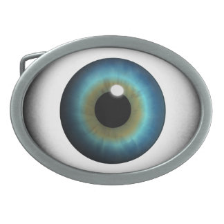 Blue Eyeball Blue Eye Iris Cool Custom Belt Buckle