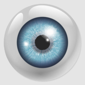 Blue Eyeball Classic Round Sticker