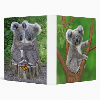 Blue-Eyed Baby Koala Bear 3 Ring Binder