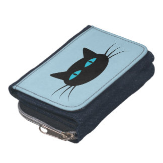 Blue-Eyed Black Cat Wallets