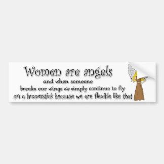 Blue Eyed Blonde Women Are Angels Car Bumper Sticker