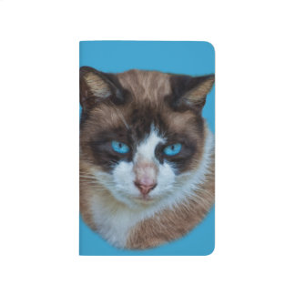 Blue Eyed Brown and White Haughty Cat Journals