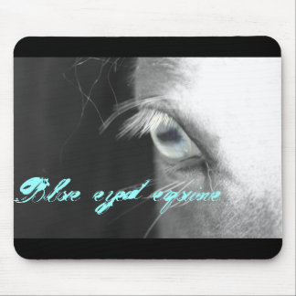 Blue eyed equine mouse pad
