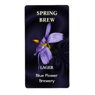Blue Eyed Grass ~ Beer bottle Label Shipping Label