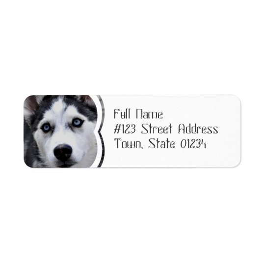 Blue Eyed Husky Mailing Labels