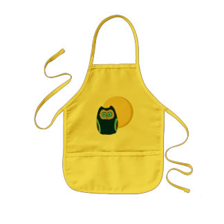 Blue-Eyed Owl and Full Moon Apron