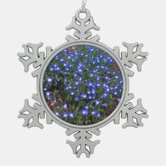 Blue Eyed Palace Lobelia Snowflake Pewter Christmas Ornament