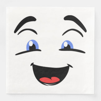 BLUE EYED SMILEY DISPOSABLE NAPKINS