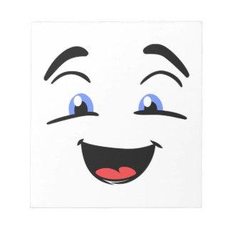 BLUE EYED SMILEY NOTEPAD