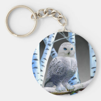 Blue-eyed Snow Owl Keychain