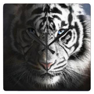 Blue-Eyed Tiger2 Wall Clock