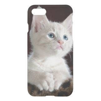 Blue Eyed White Kitten iPhone 7 Case