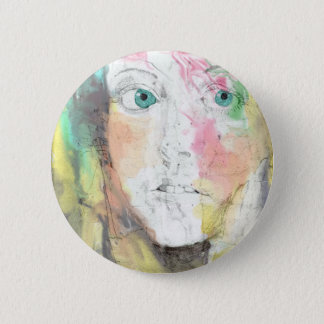 Blue Eyes 2 Inch Round Button