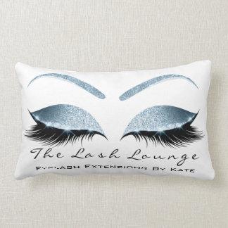 Blue Eyes Glitter Makeup Lashes Beauty Studio Lumbar Pillow