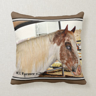 """Blue Eyes"" Horse Accent Throw Pillow"