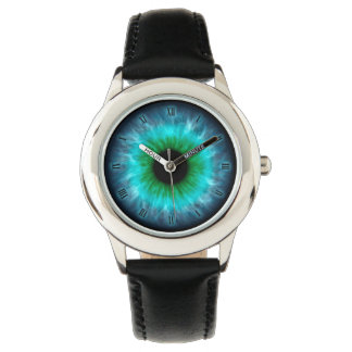 Blue eyes iris eyeball watch