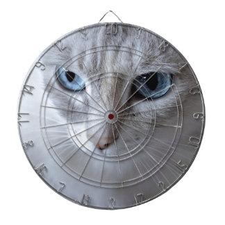 Blue Eyes Kisa Cat Dartboard