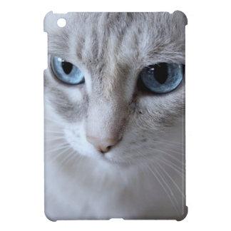 Blue Eyes Kisa Cat iPad Mini Cover