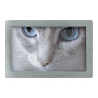 Blue Eyes Kisa Cat Rectangular Belt Buckle
