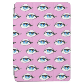 Blue Eyes Pattern Pink iPad Air Cover