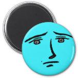 Blue Face Anime