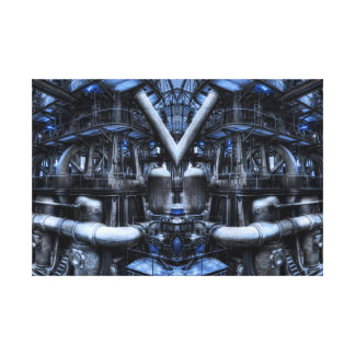BLUE FACTORY CANVAS PRINT