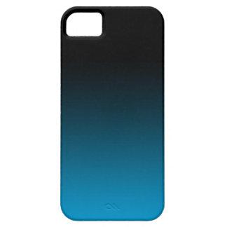 Blue Fade Iphone Case black