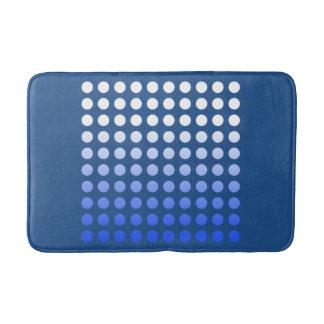 Blue Fade Polka Dot Pattern Bath Mat