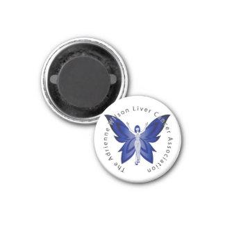 Blue Faery 2.25-inch round magnet