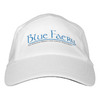 Blue Faery knit or woven white performance hat