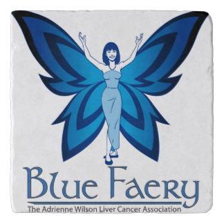 Blue Faery stone trivet (marble or travertine)